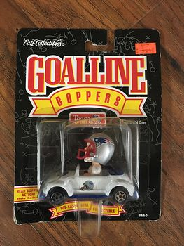 1996 Ertl Nfl New England Patriots Goalline Boppers Toy Car #kJnJyzh1Y8Q