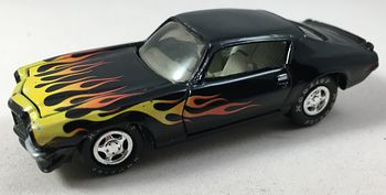Black 1970 Camaro with Flames and Hoosier Tires Johnny Lightning 538 #ho1q71L6yAw
