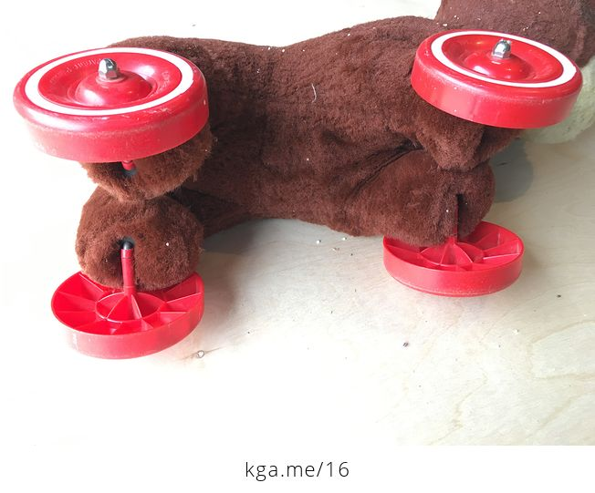 Knickerbocker Ride on Toy Bear with Wheels - #Cjn4DVYsml0-6