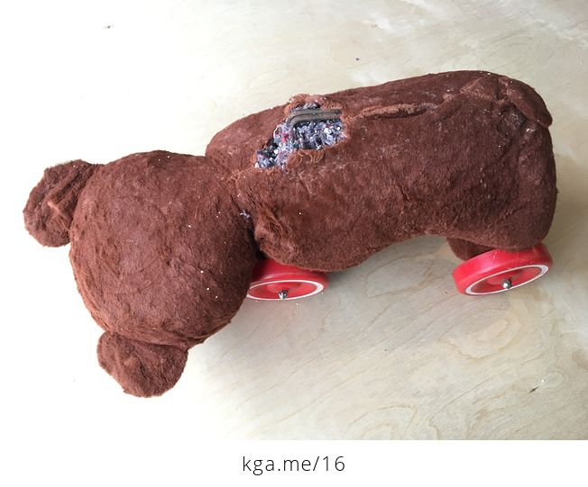 Knickerbocker Ride on Toy Bear with Wheels - #Cjn4DVYsml0-4