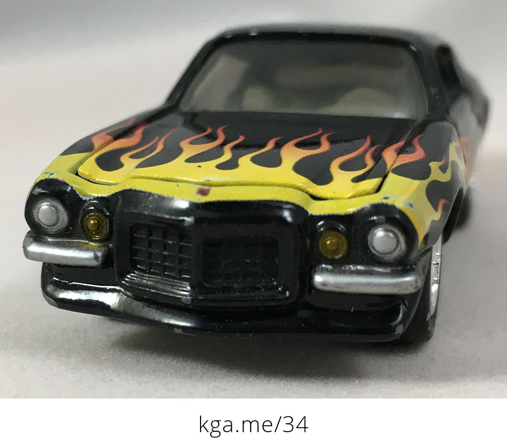 Black 1970 Camaro With Flames And Hoosier Tires Johnny